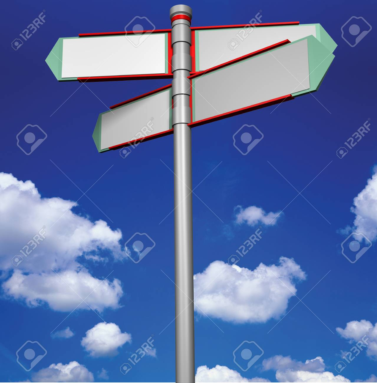 Blank signpost with background change Stock Photo - 12609228