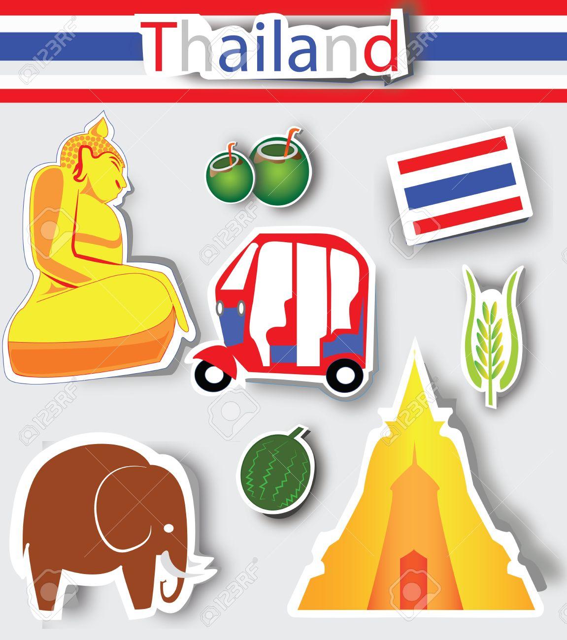 Thailand culture icons,Logo Stock Vector - 13691055