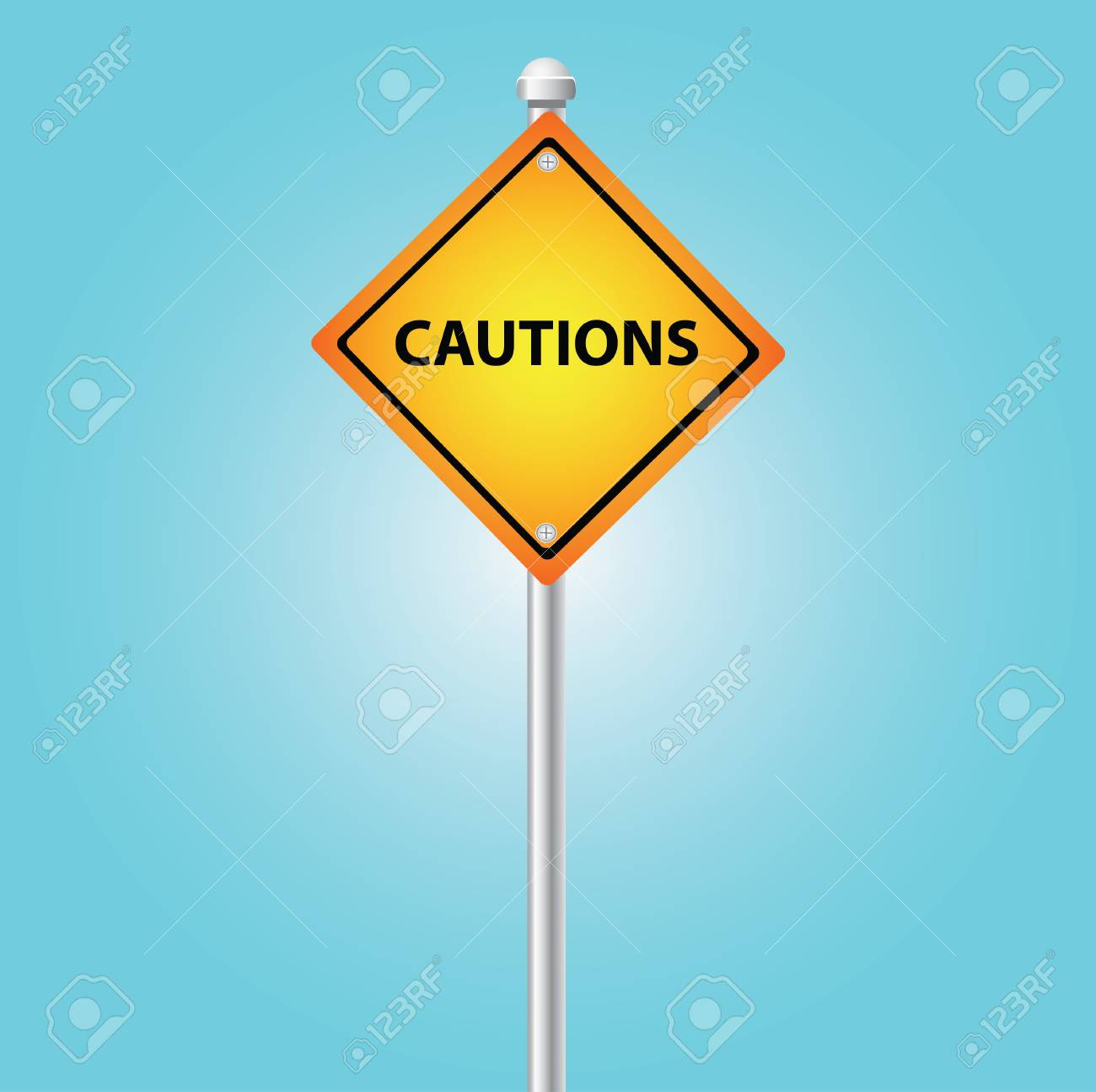 Cautions sign sky background,Vector Stock Vector - 14958556