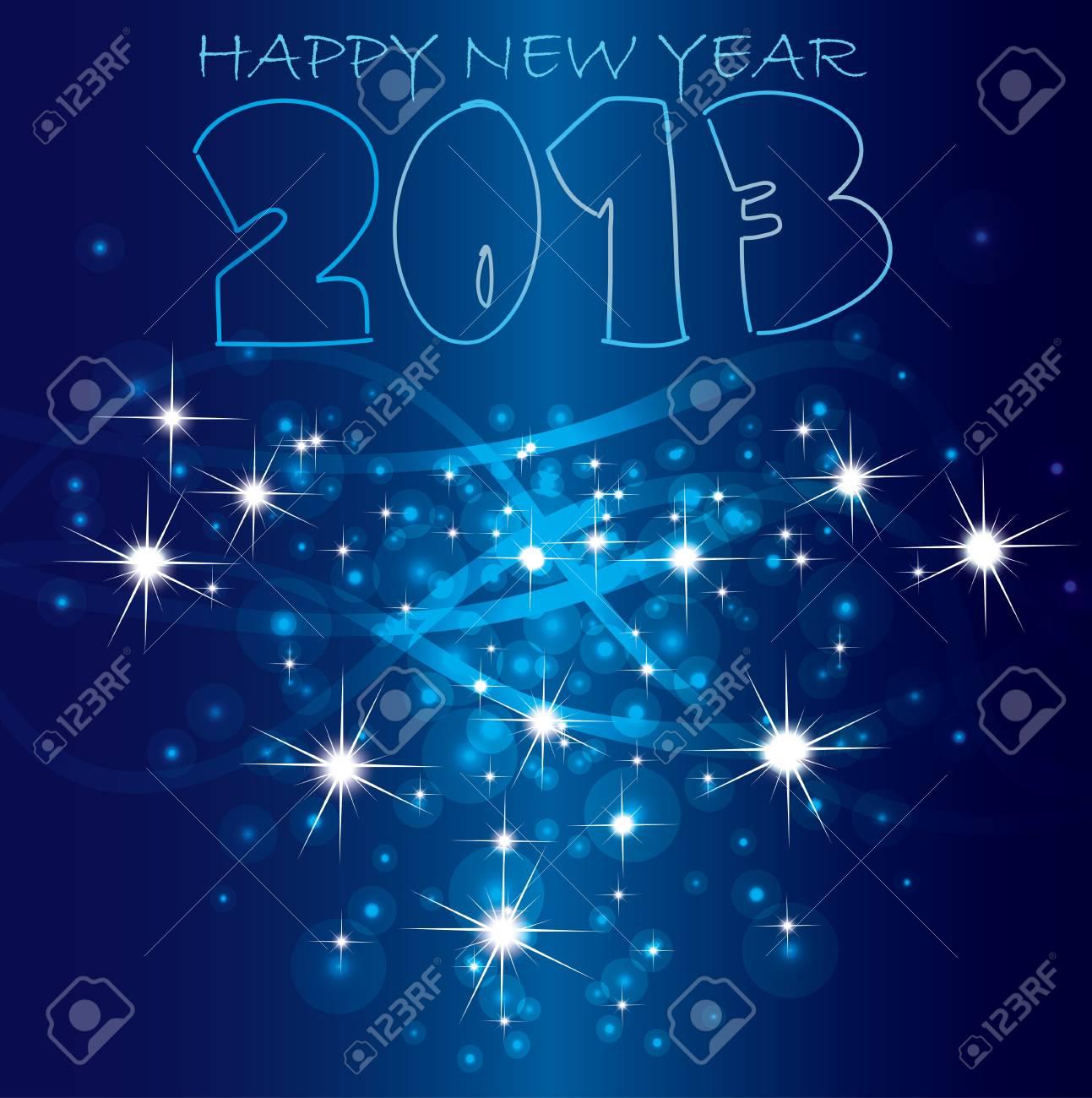 2013 Happy New Year background  Vector Stock Vector - 16160046