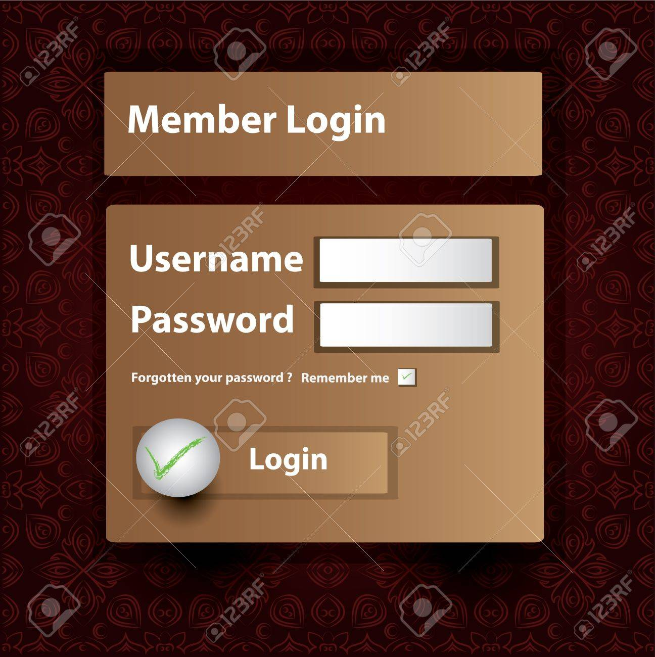 Login on classic pattern background,Vector Stock Vector - 16160040