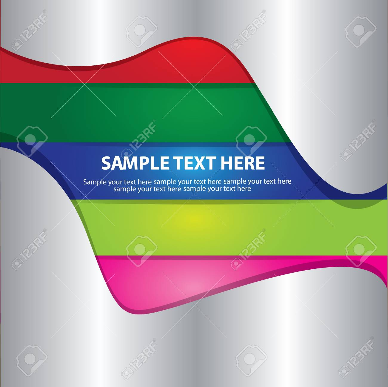 Metal and colorful card,vector Stock Vector - 16173964