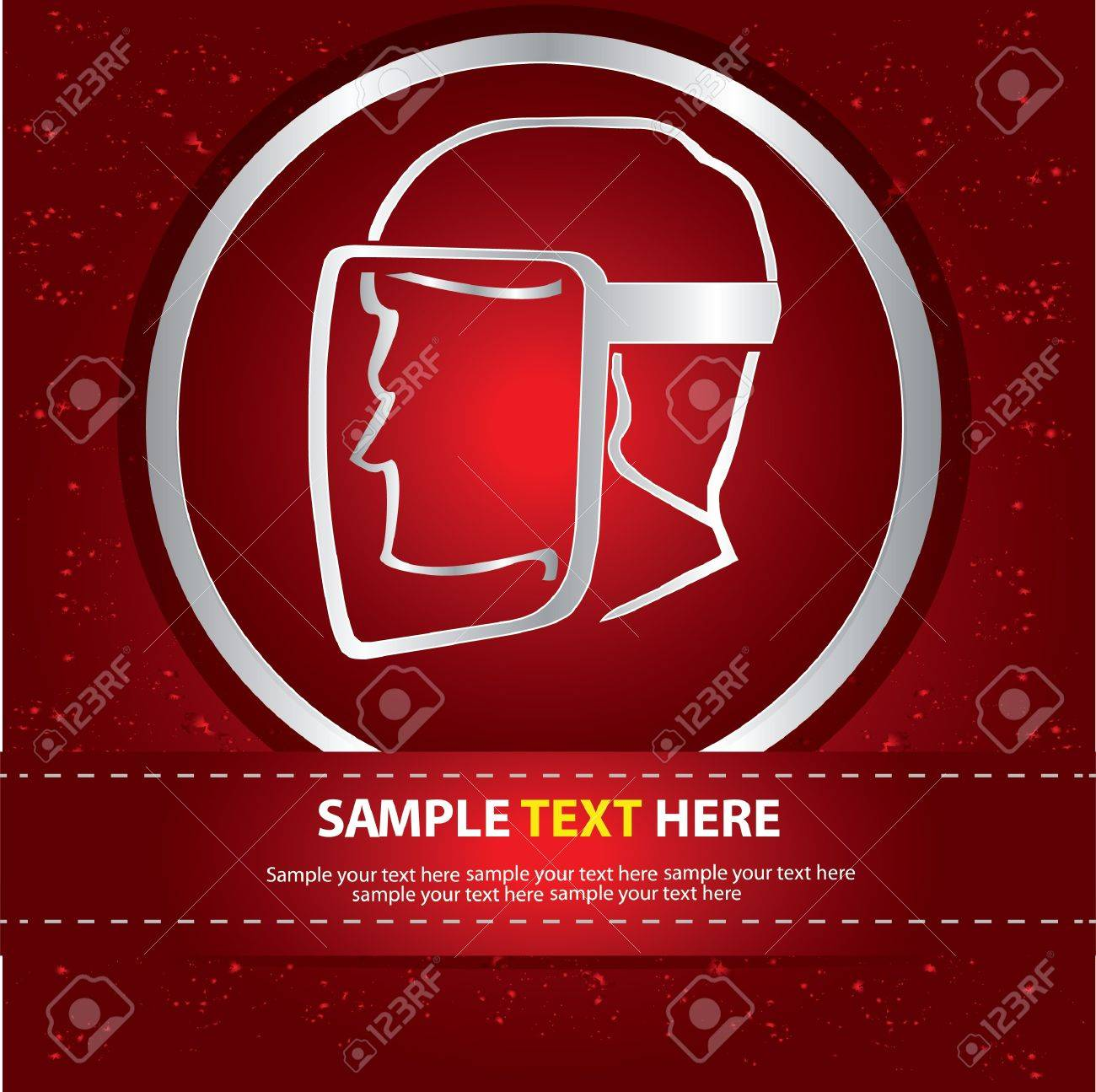 Safety sign on red abstract background,Vector Stock Vector - 16174285