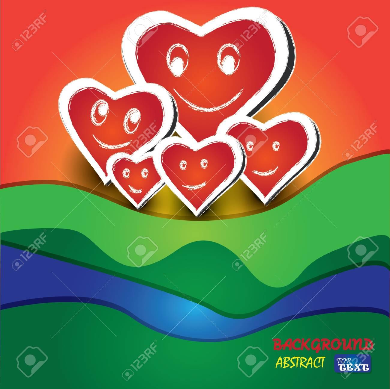 Hearts family,abstract Stock Vector - 18521846