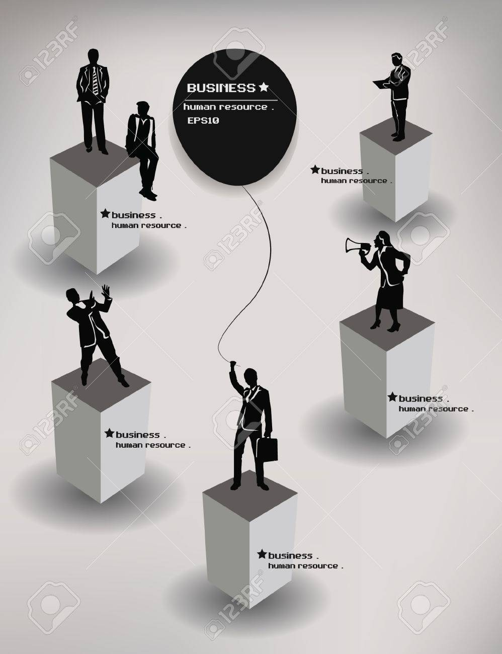 People,business,hum an resource,vector Stock Vector - 18886915