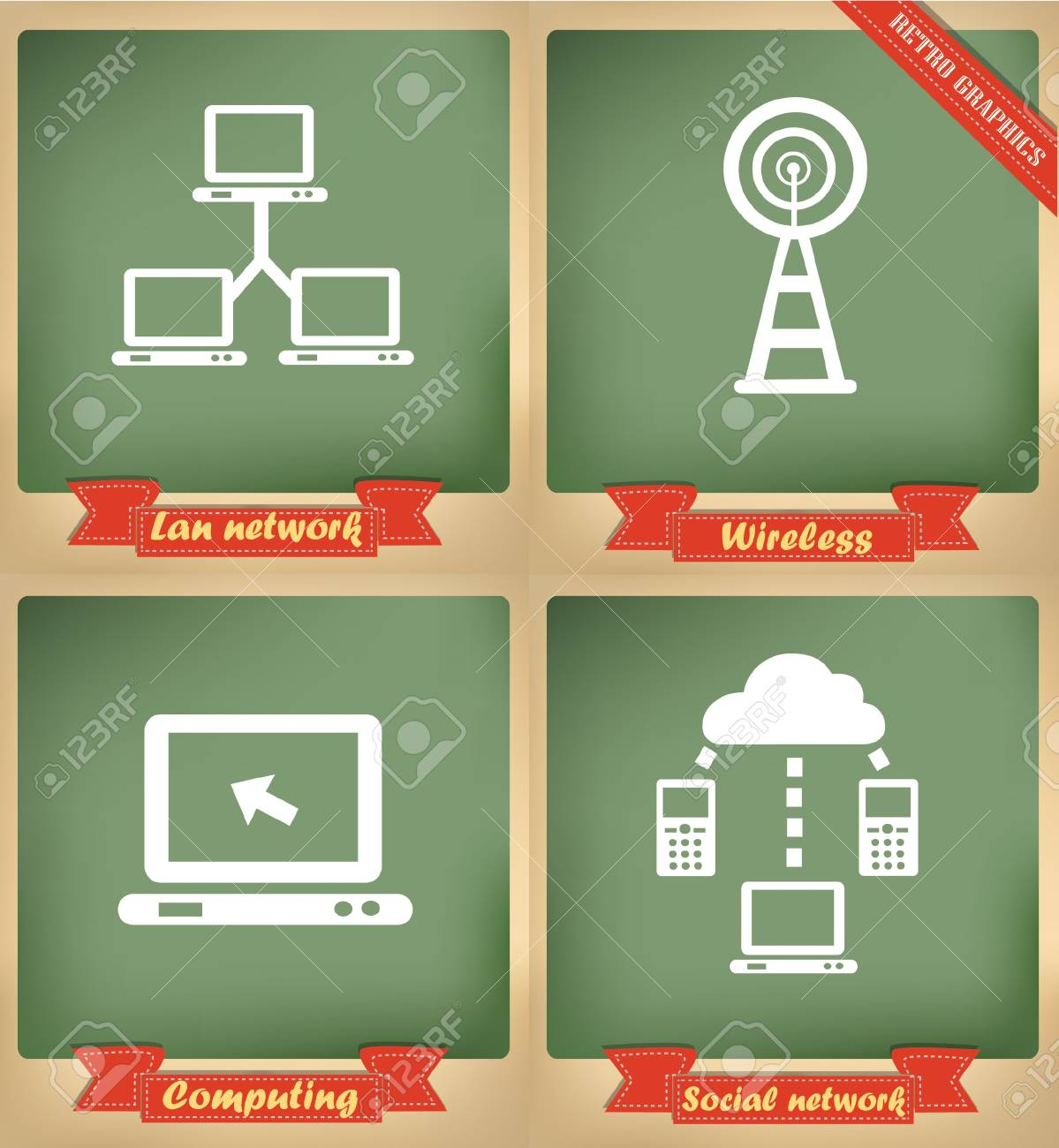Technology sign,vintage,vector Stock Vector - 18626021