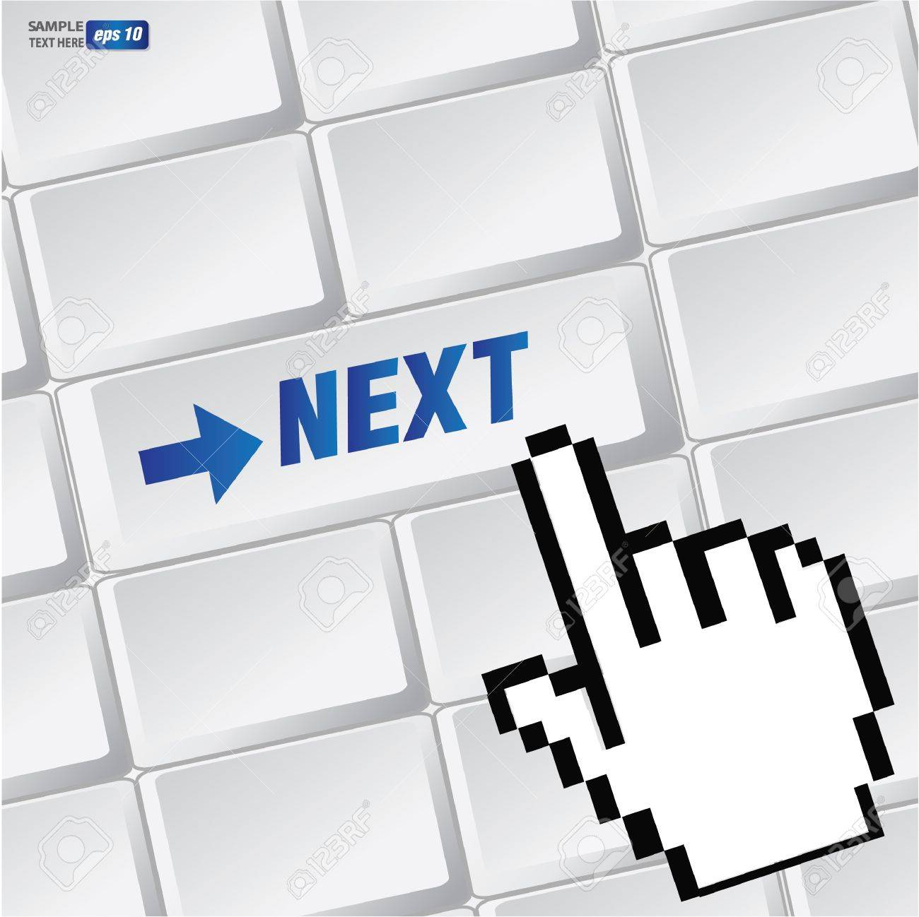 Next symbol on keyboard,vector Stock Vector - 18616868