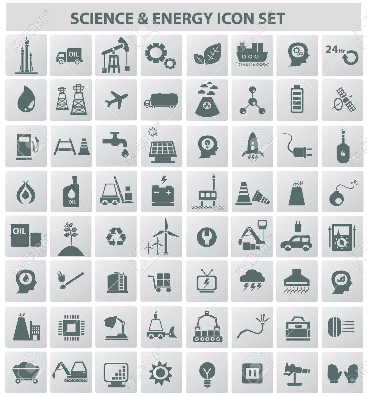 Industrial,energy,b uilding and natural icon set,vector Stock Vector - 18625894