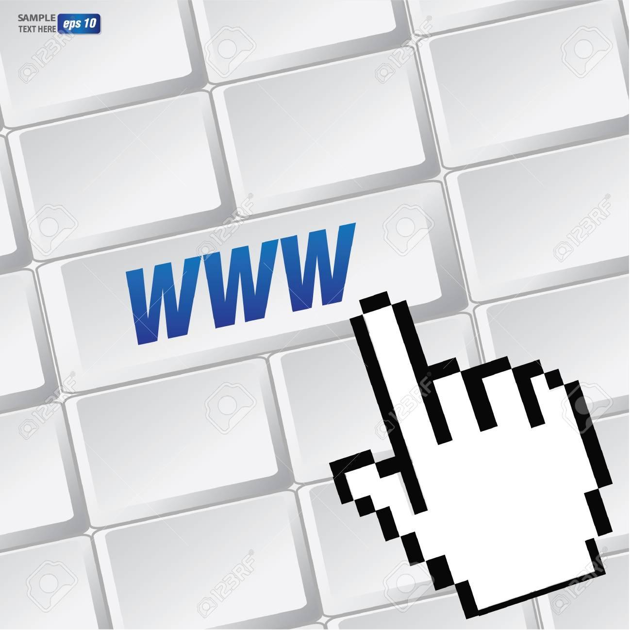 WWW symbol on keyboard,vector Stock Vector - 18616866