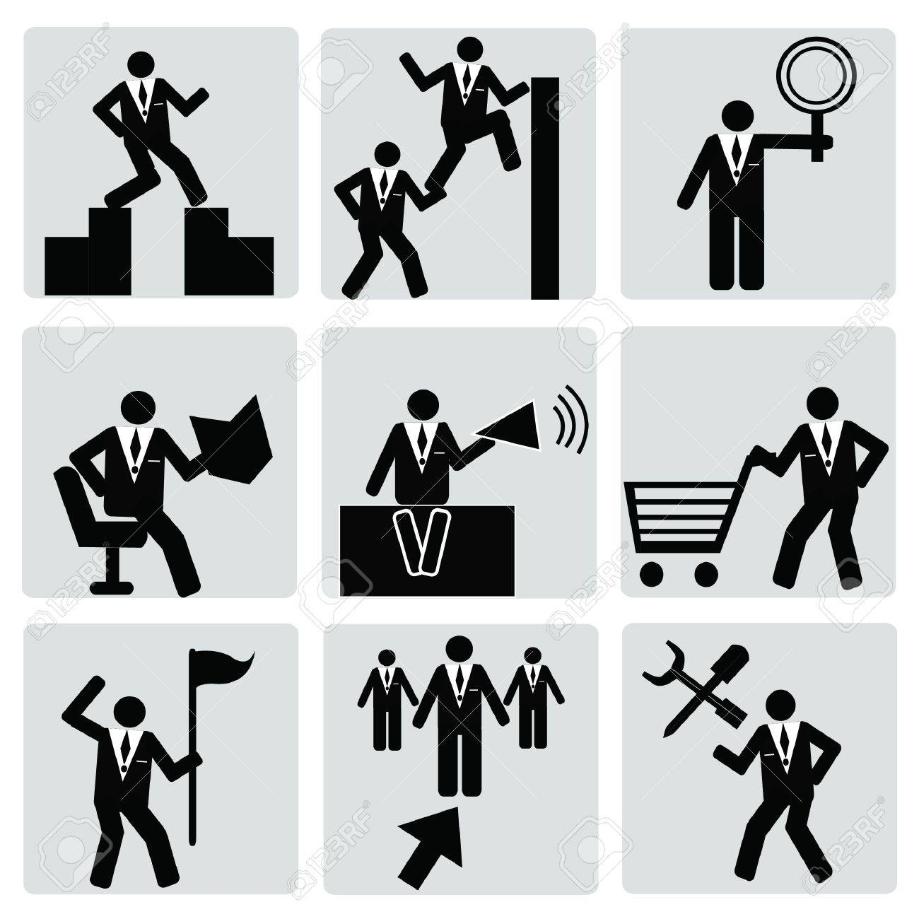 Business   human resource,management icon set,Vector Stock Vector - 18750792
