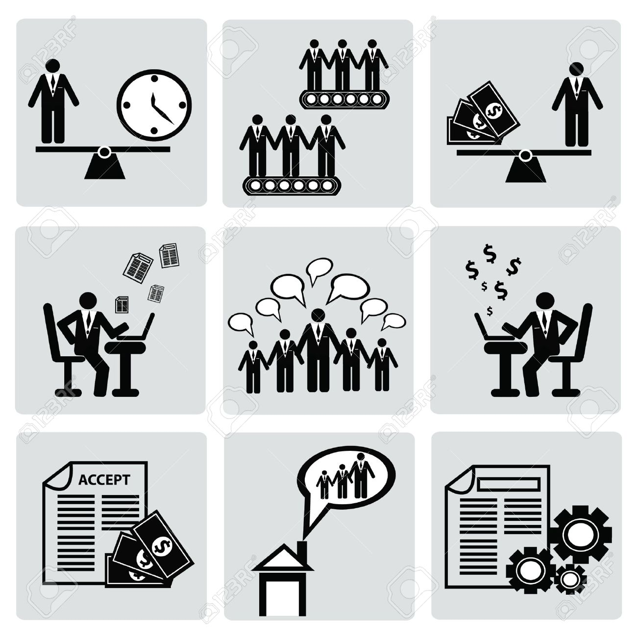 Business management and Human resource,organizati on,icon set,Vector Stock Vector - 18750858