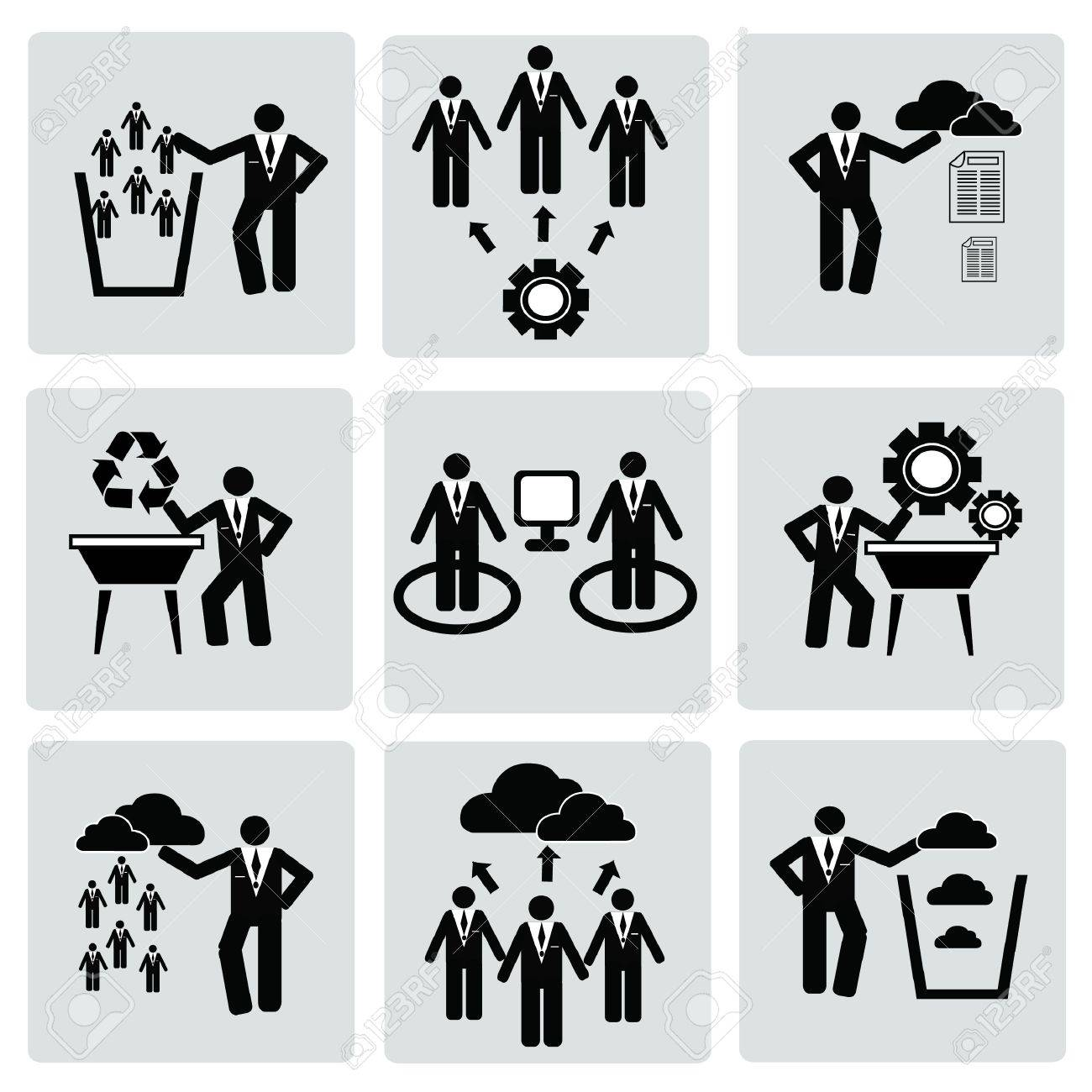 Business management and Human resource,organizati on,icon set,Vector Stock Vector - 18750825