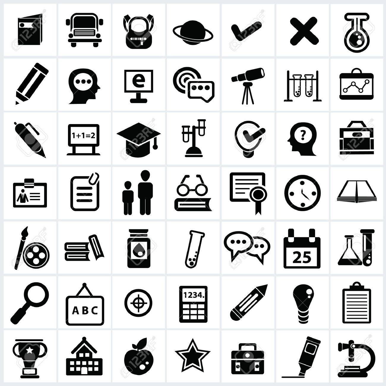 Education icon set Stock Vector - 18780684