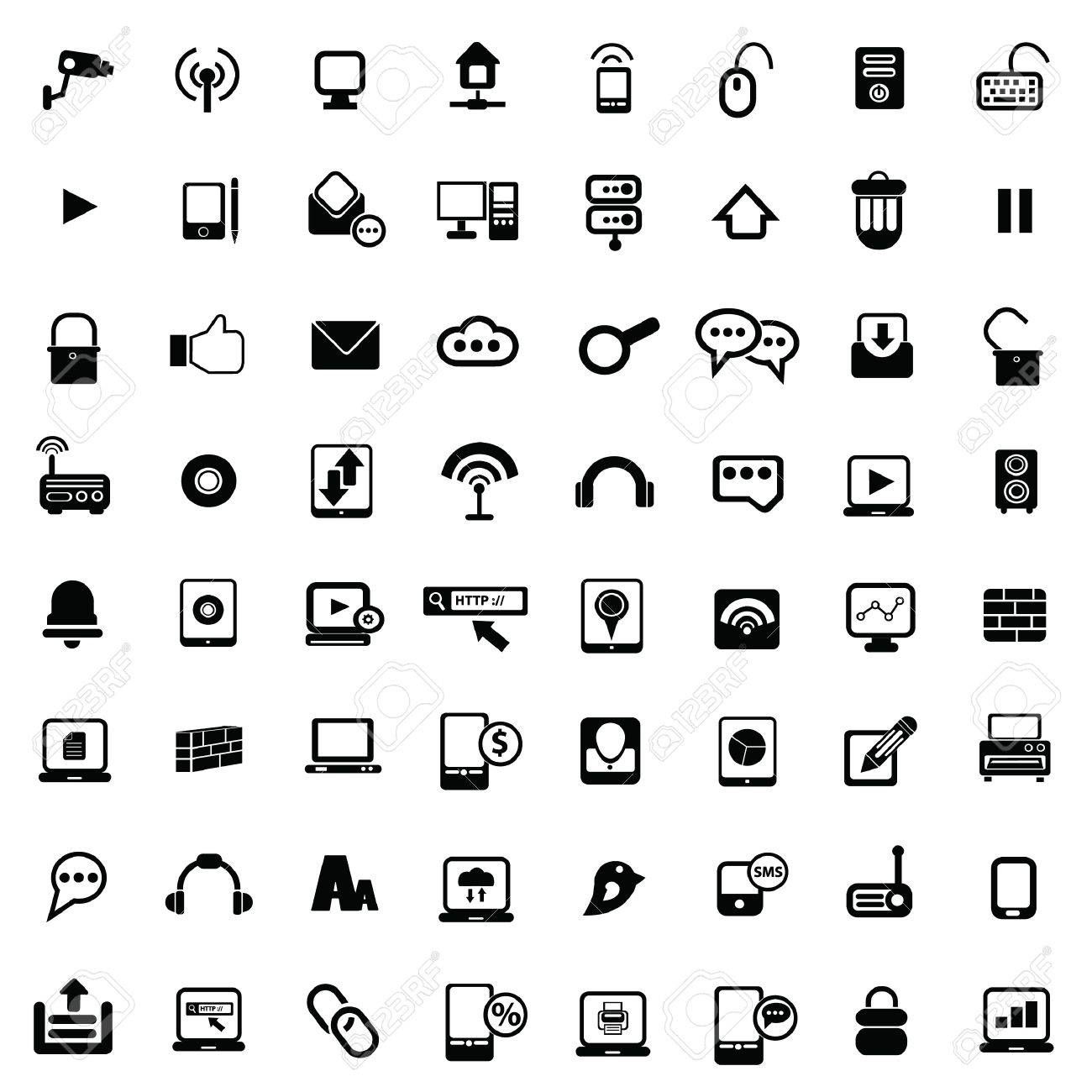 Web Universal icons For Web and communication Stock Vector - 19207928