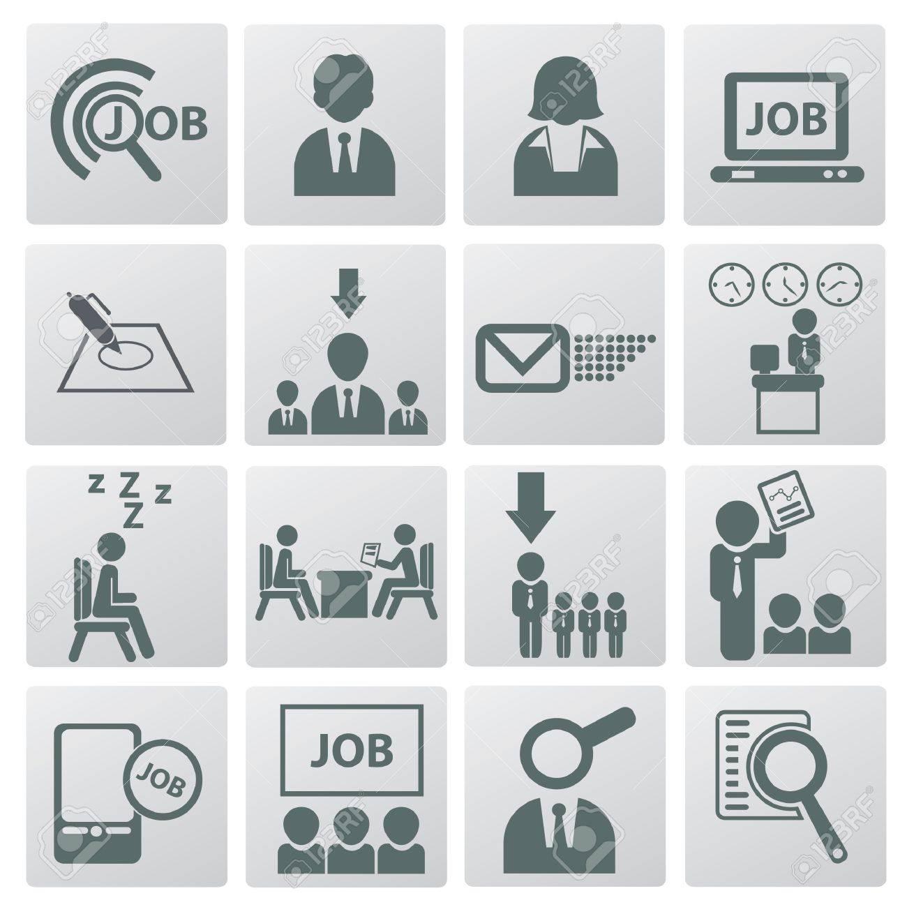 Jobs Und Beschäftigung Icon Set Lizenzfrei Nutzbare Vektorgrafiken ...