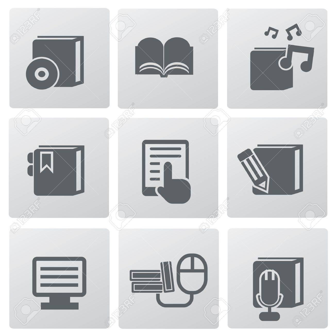 Education technology icon set,vector Stock Vector - 19656458