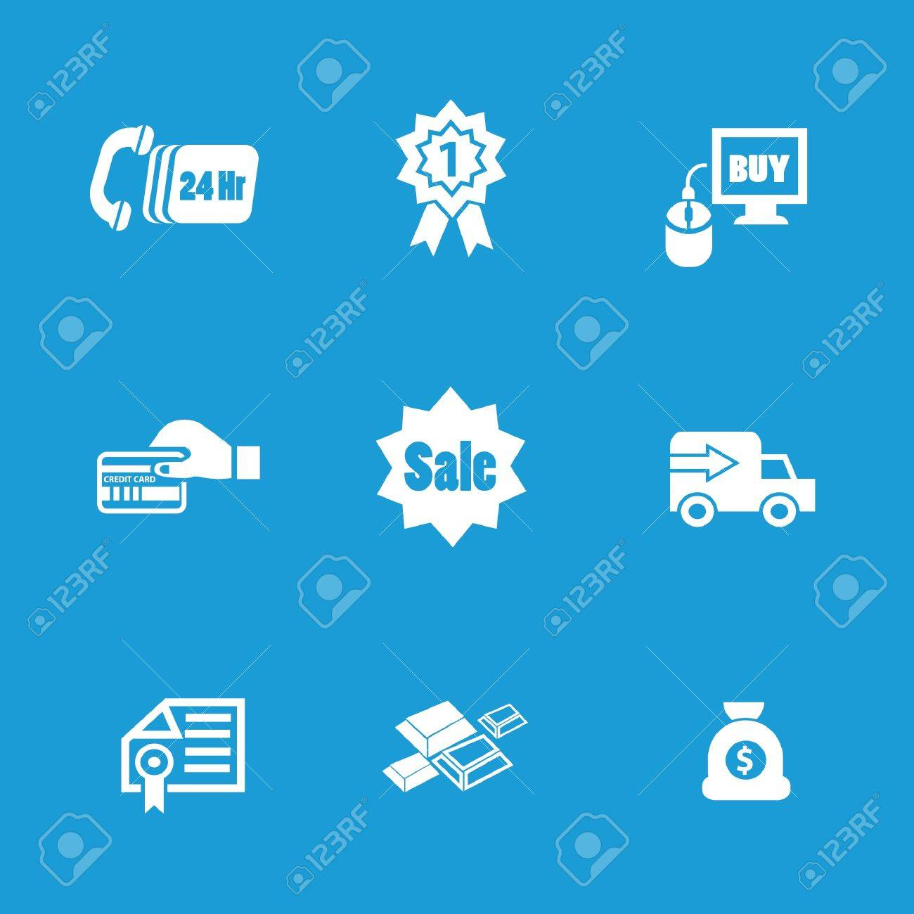 E-commerce technology icons Stock Vector - 19770694