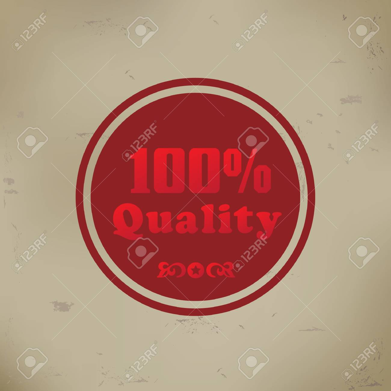100  quality sign on old background Stock Vector - 19769446