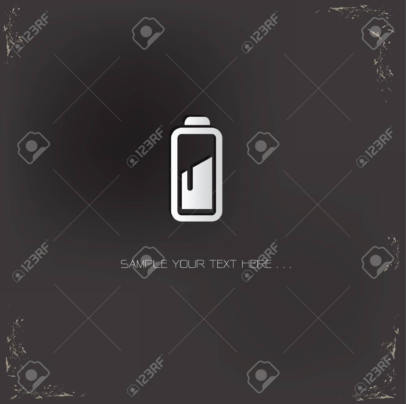 Battery sign on blackboard background Stock Vector - 19771128
