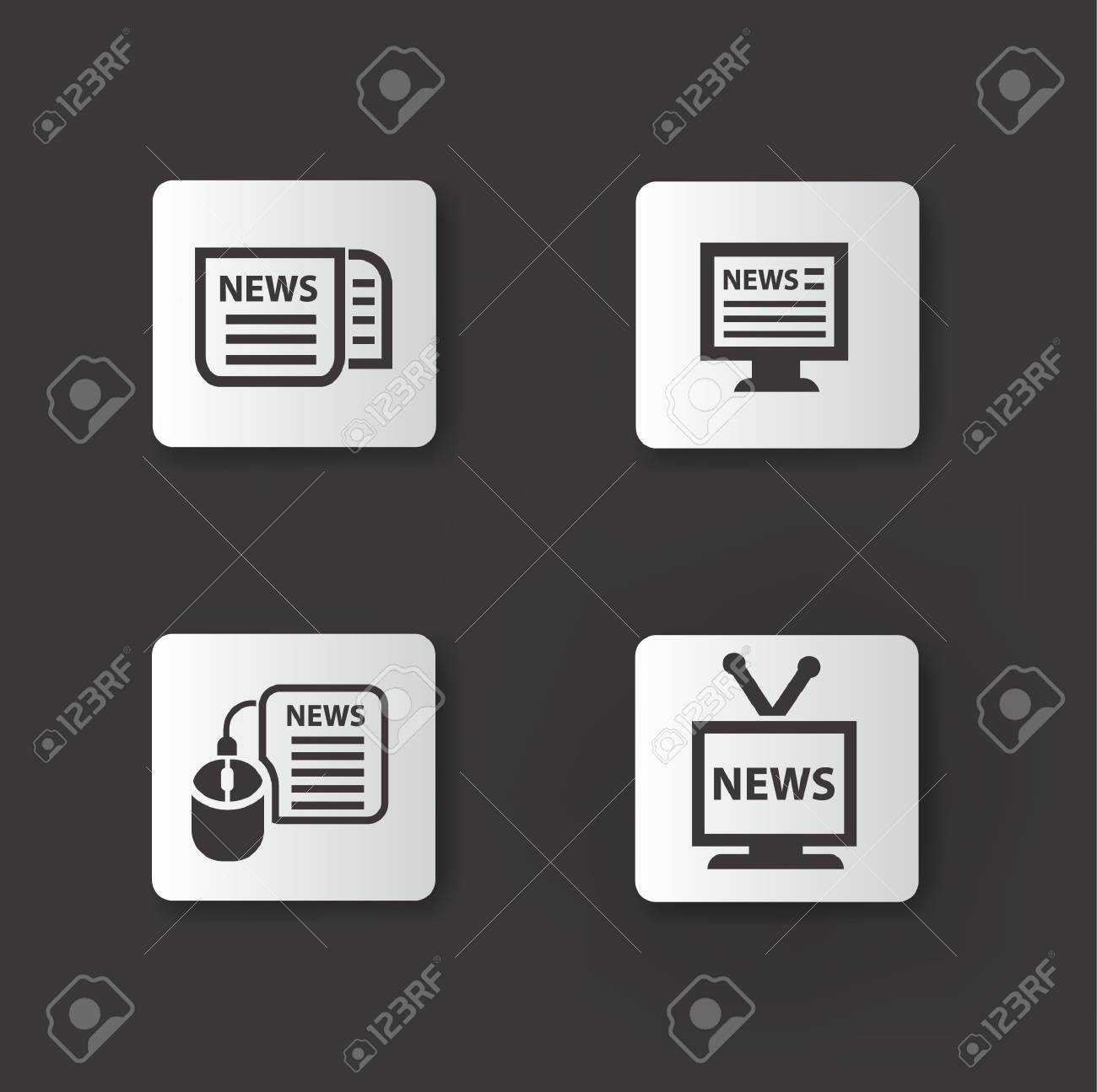 News icons Stock Vector - 19771201