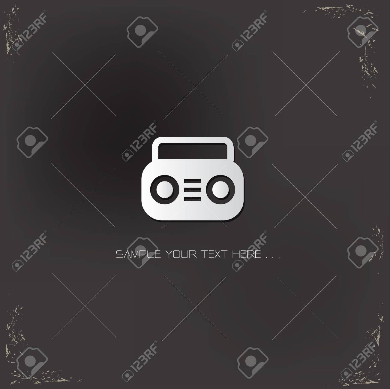 Radio symbol,Vector Stock Vector - 19908231