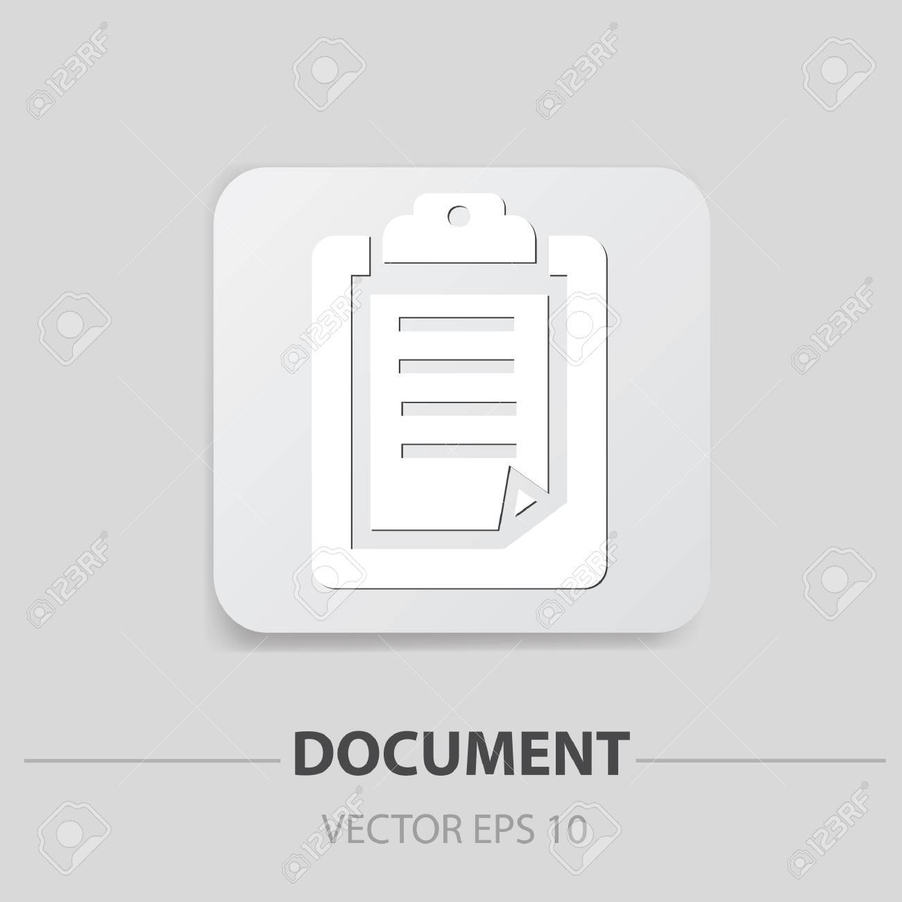 Document sign Stock Vector - 19973111