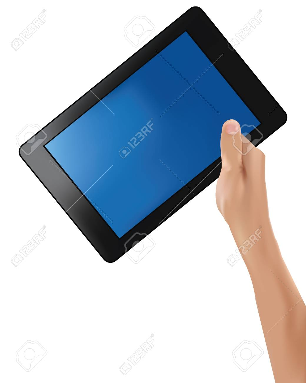 Tablet computer on white background Stock Vector - 19973211