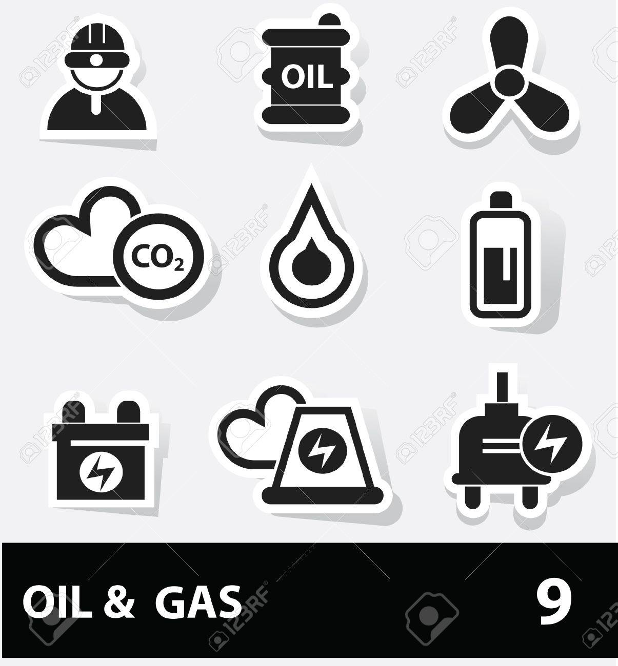 Energy and power icons Stock Vector - 20130815
