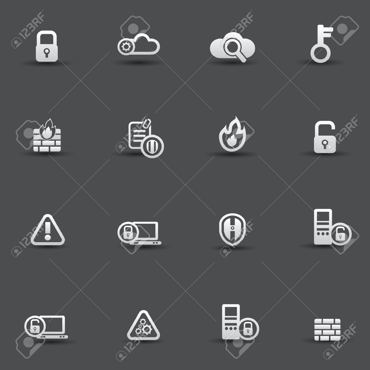 Security computer icons Stock Vector - 20087100