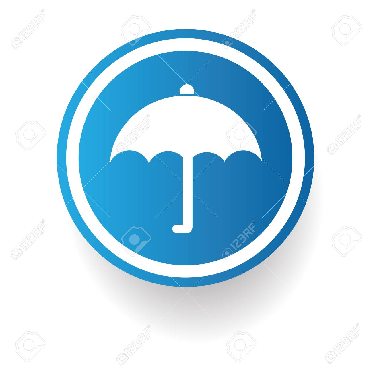 Umbrella sign Stock Vector - 20168070
