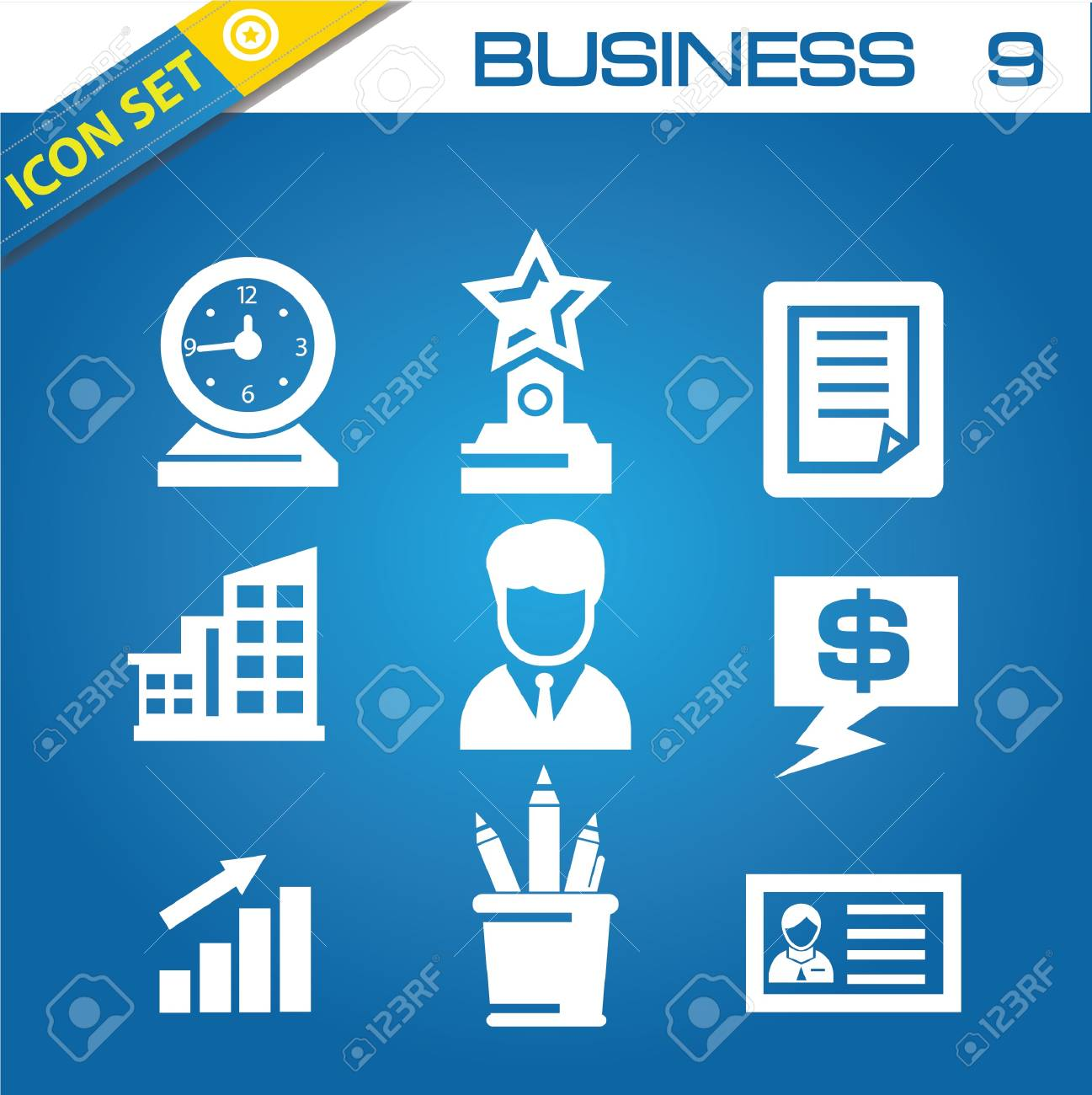Office icons Stock Vector - 20168793