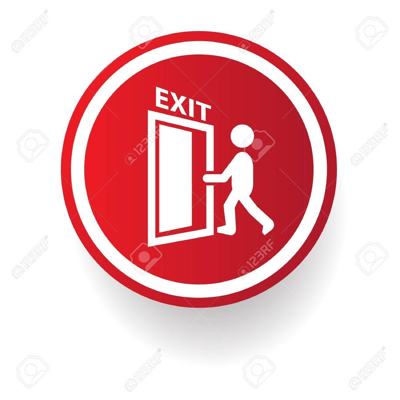 Exit symbol Stock Vector - 20438253
