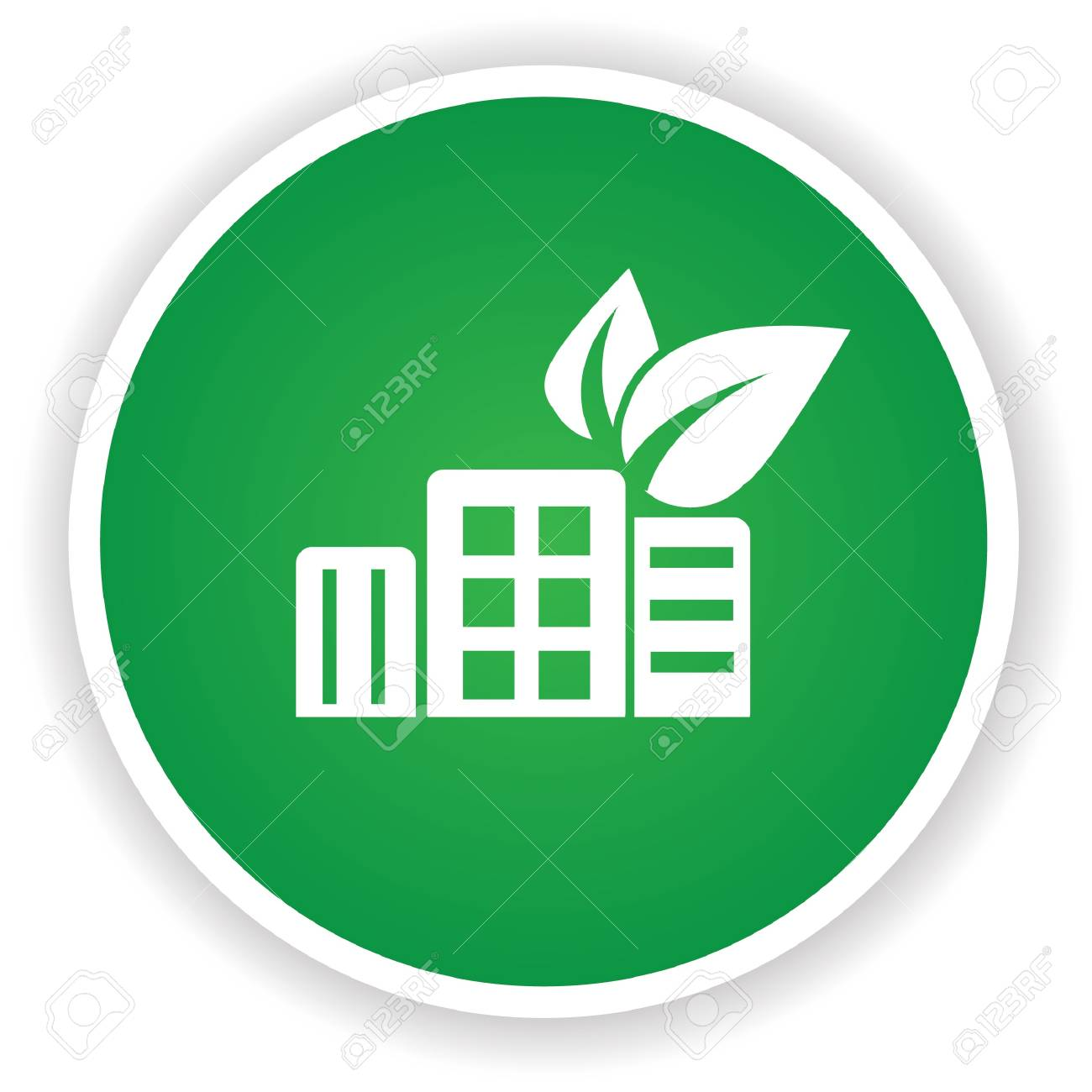 Ecology building symbol on green button royalty free cliparts ecology building symbol on green button stock vector 20437882 biocorpaavc Image collections