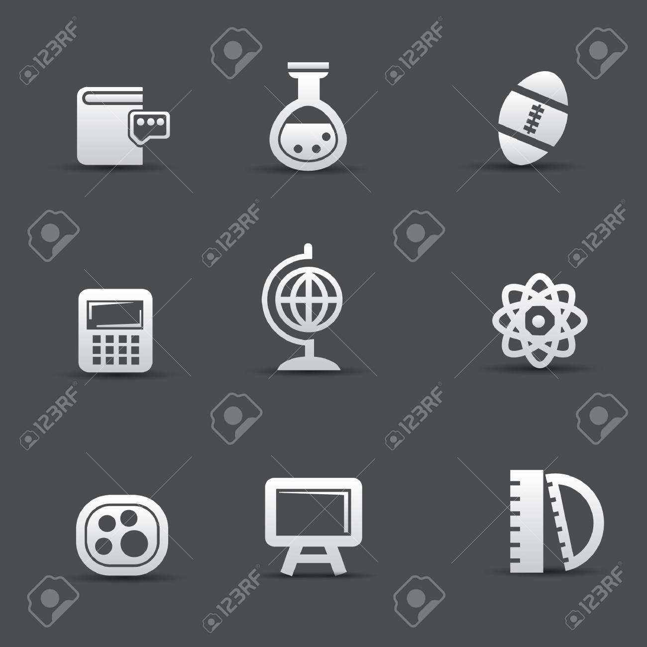 Science icon set Stock Vector - 20564863