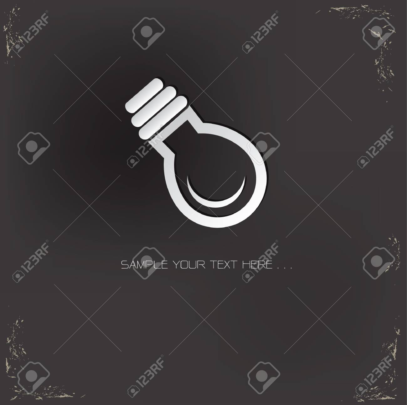 Light bulb sign on grunge background Stock Vector - 20564871