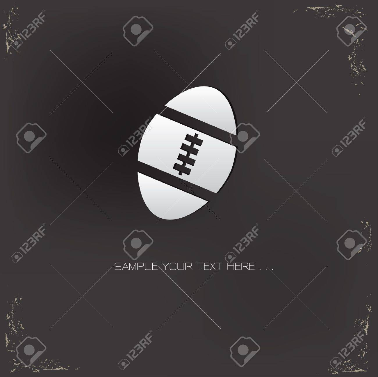Rugby sign on grunge background Stock Vector - 20564870
