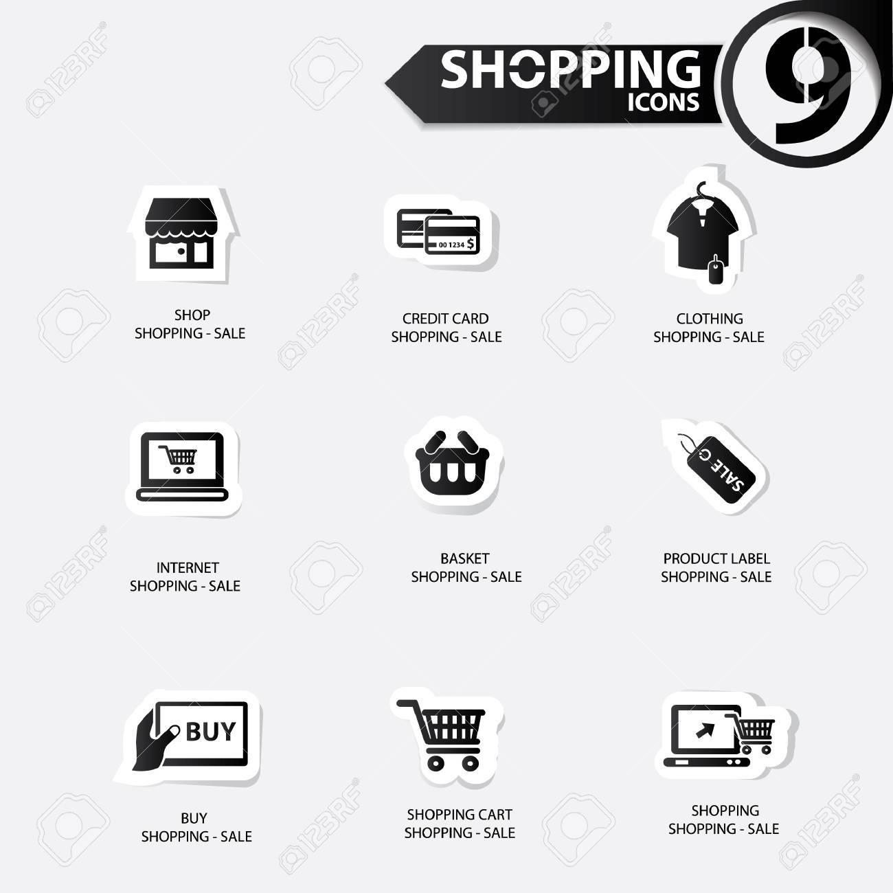 Shopping icons Stock Vector - 20616506