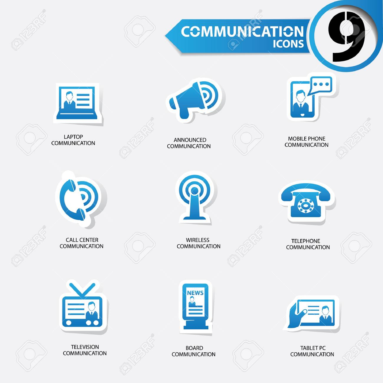 Communication icons Stock Vector - 20616391