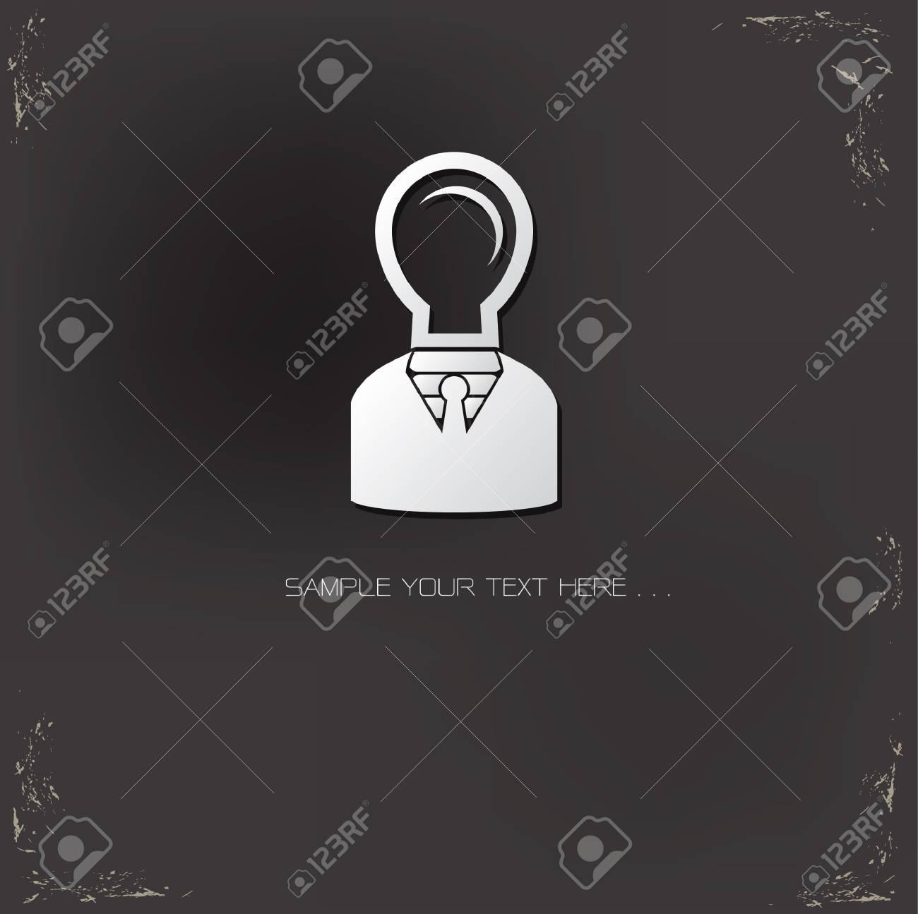 Light bulb man symbol on grunge background Stock Vector - 20761747