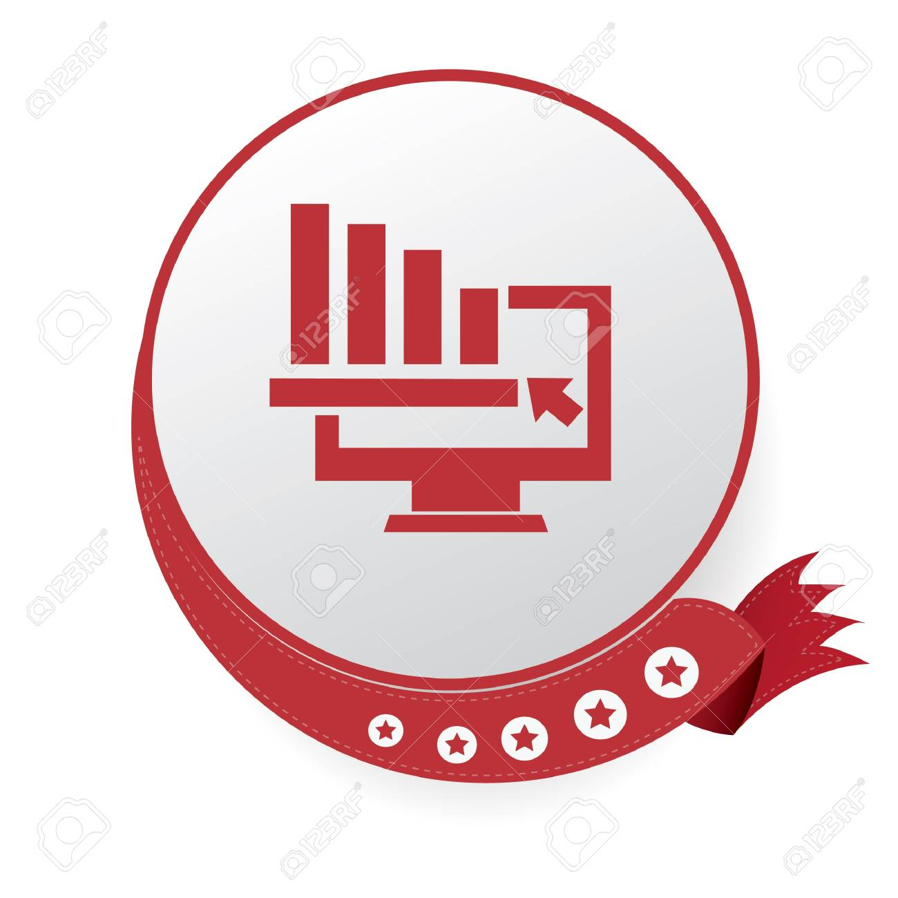 Graph down analysis symbol,vector Stock Vector - 21283521