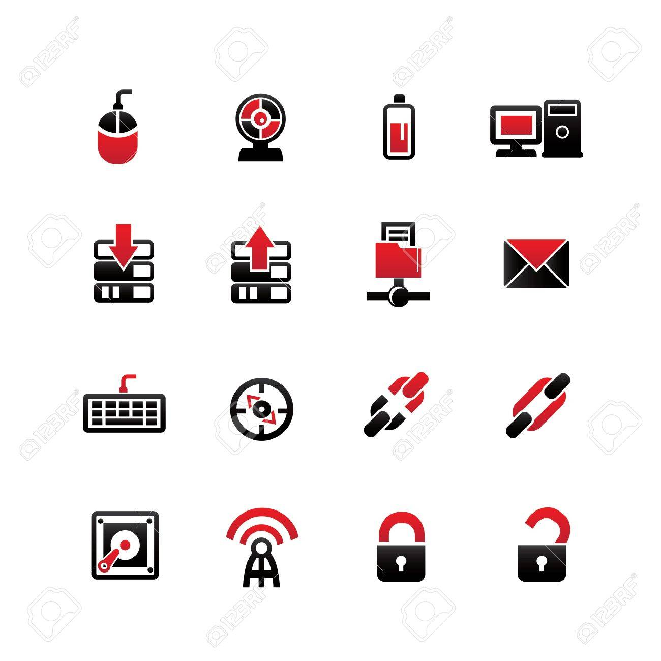 Networking icons on white background,vector Stock Vector - 21395723