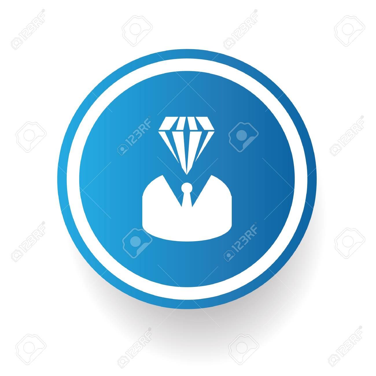 Diamond human symbol,vector Stock Vector - 21635484