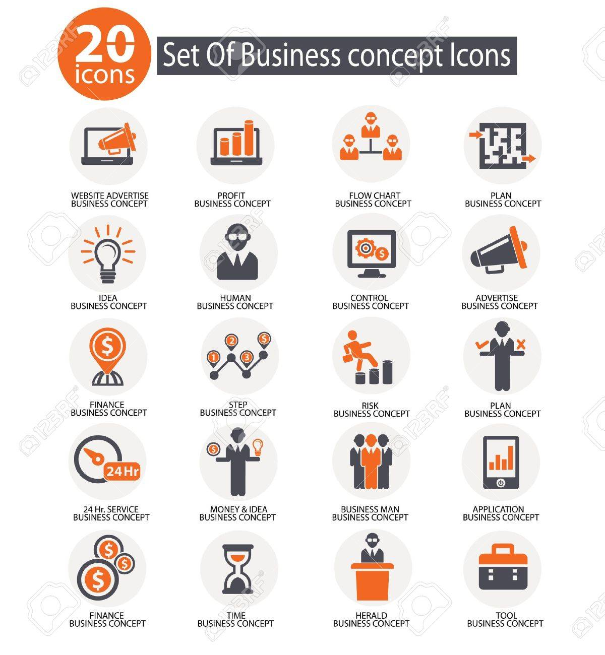 Business management icons,vector Stock Vector - 21569652