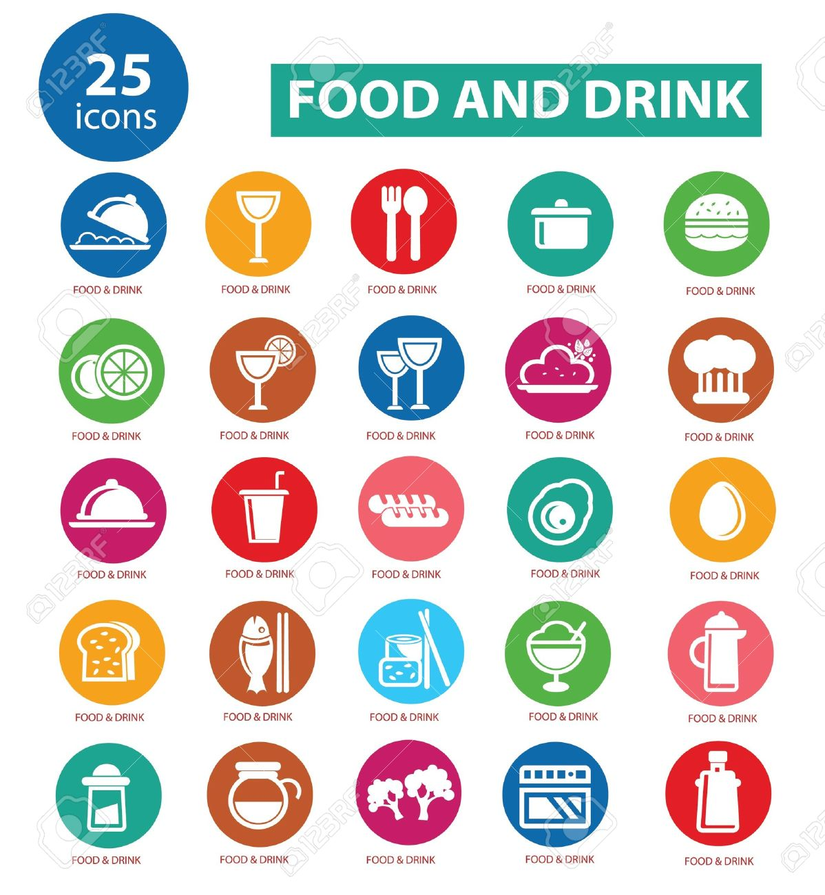 Food and Restaurant icons set,Colorful version,vector Stock Vector - 22098357