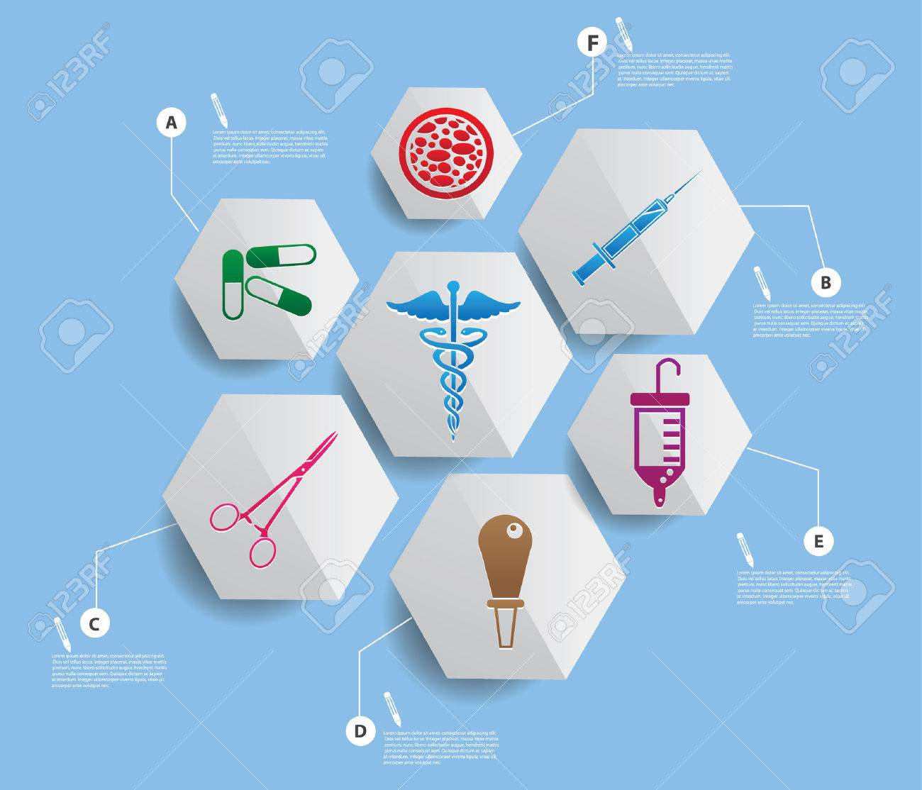 Medical infographics design Stock Vector - 22444621