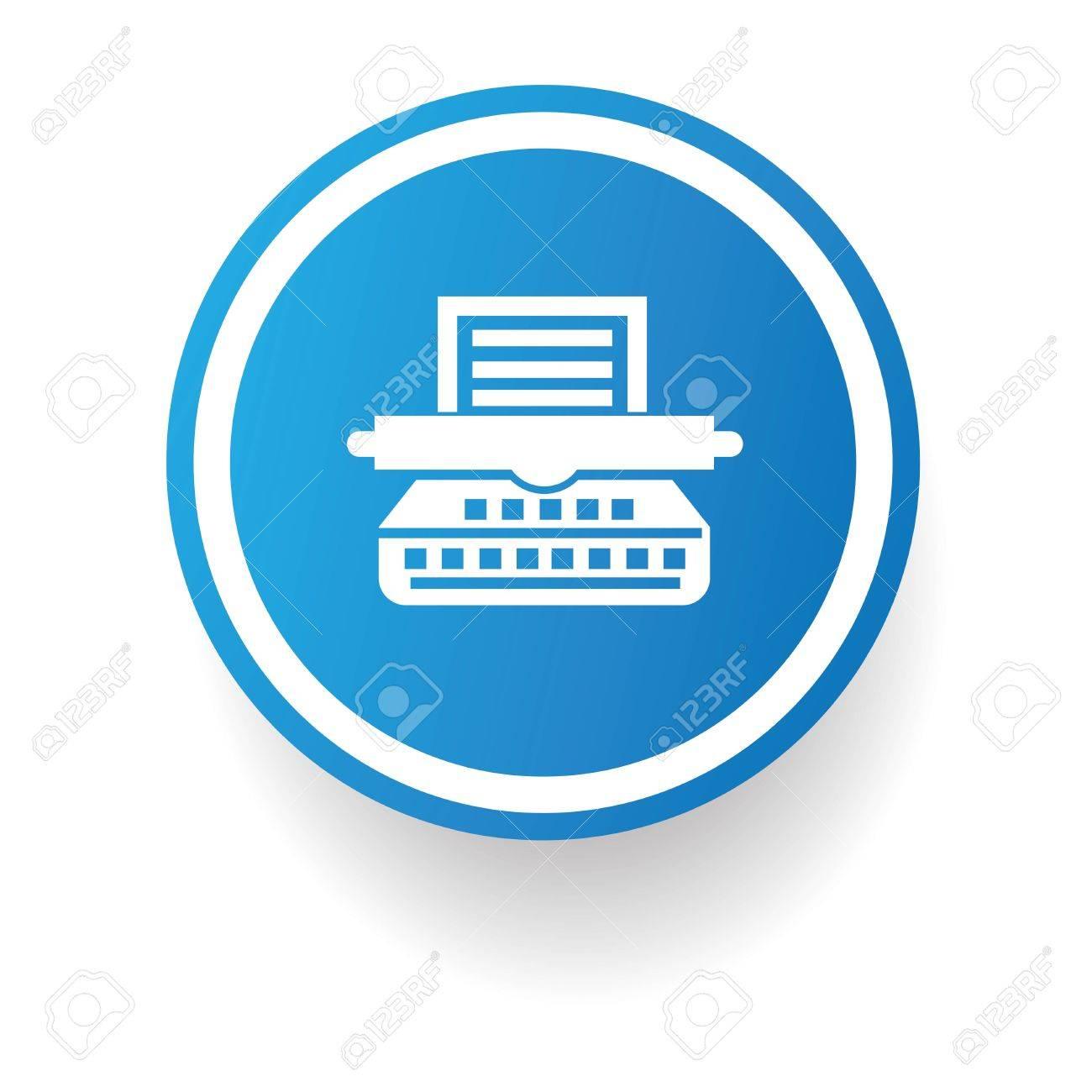 Printer button,vector Stock Vector - 24753616