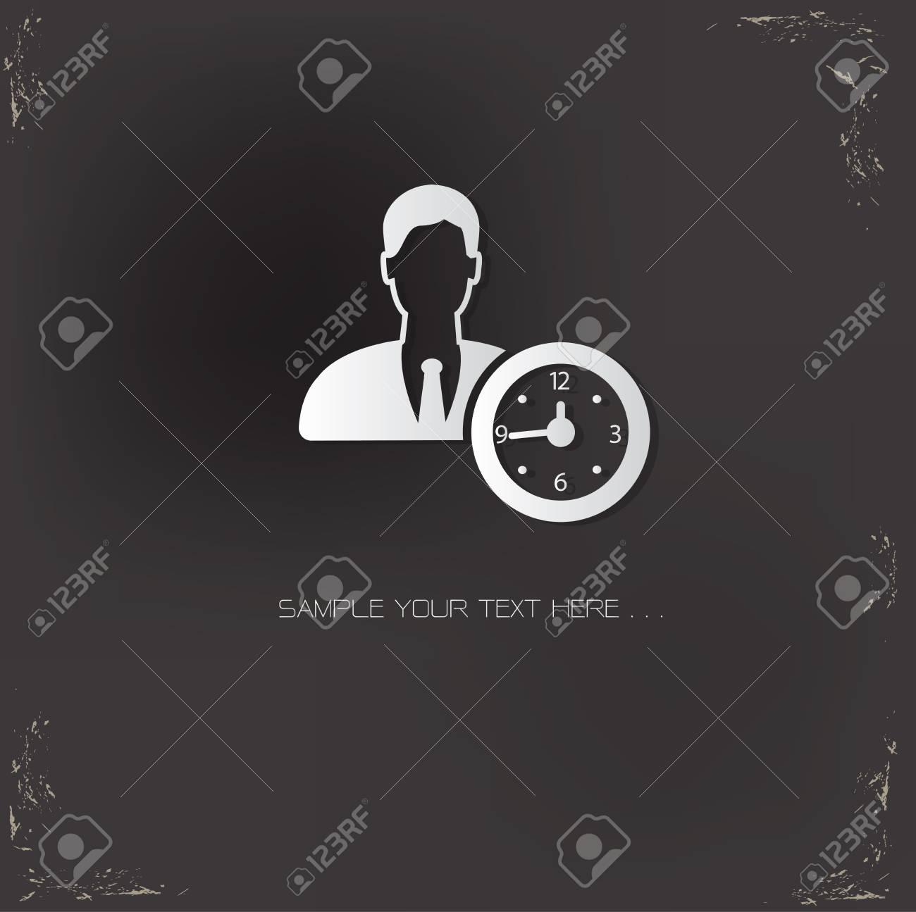 Business man symbol,vector Stock Vector - 25936816