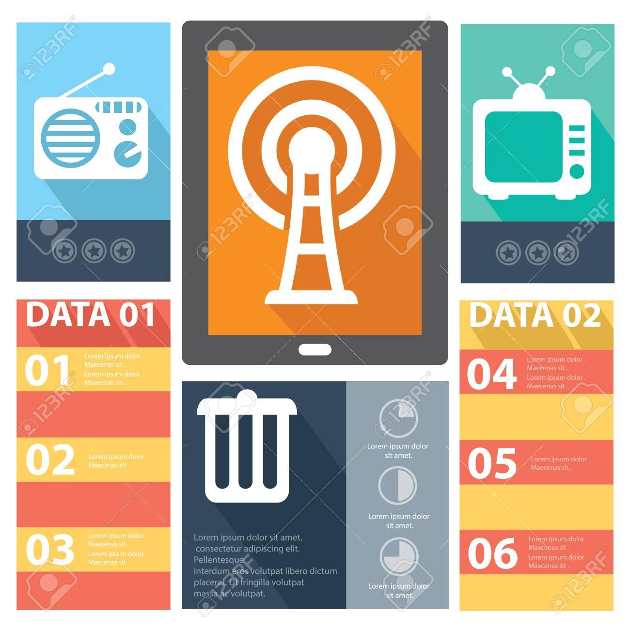Media concept banners,vector Stock Vector - 27168562
