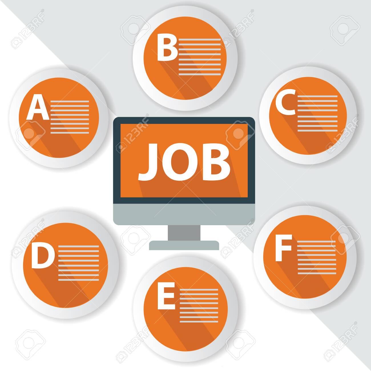 Job Infographics,for text,Orange vector Stock Vector - 27168688