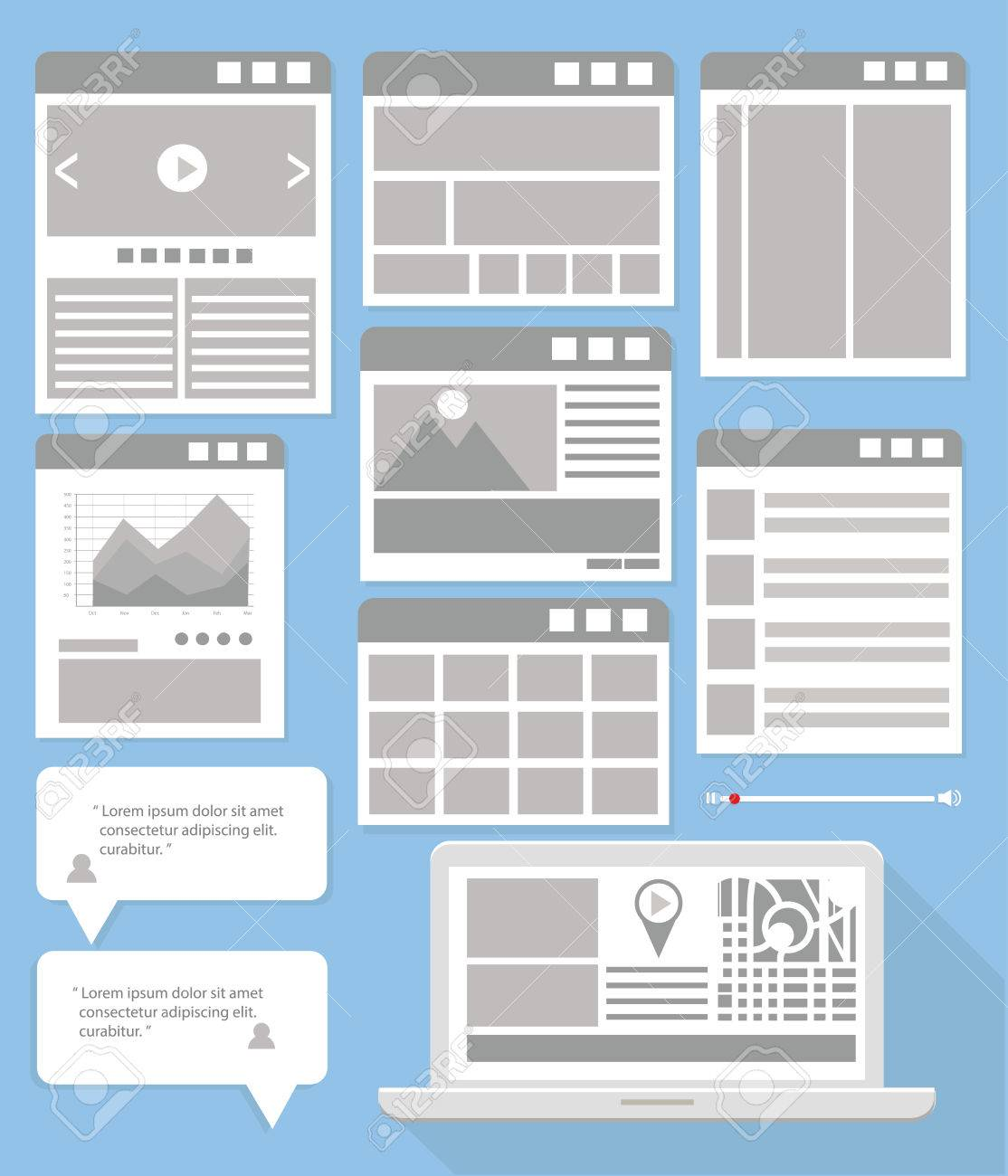 website flowcharts and site mapsfray version stock vector 27680587 - Website Flowcharts